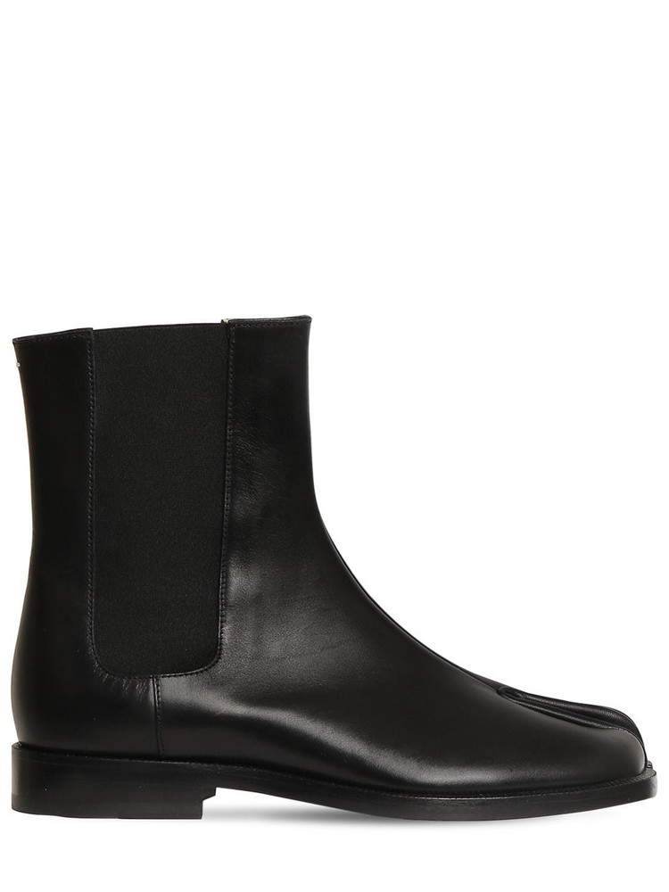 MAISON MARGIELA 20mm Tabi Leather Chelsea Boots in black