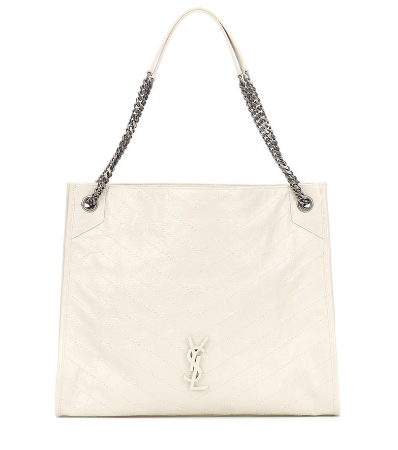 Saint Laurent Niki Large leather tote in white