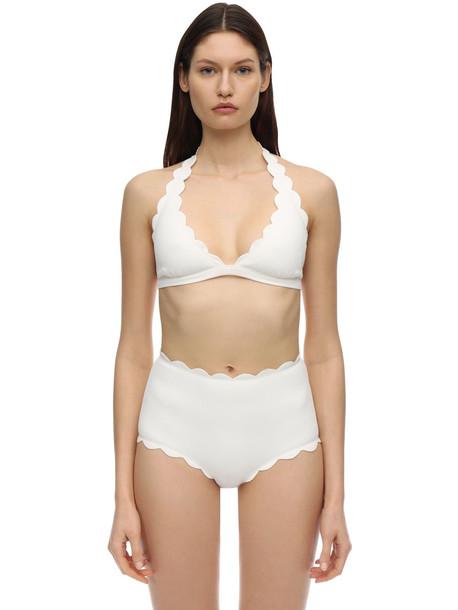 MARYSIA Spring Triangle Bikini Top in white