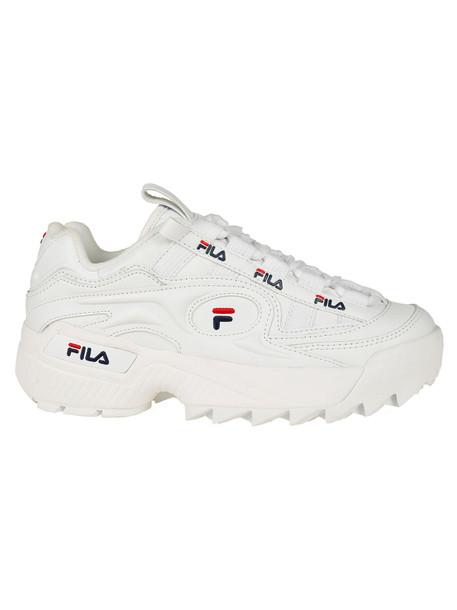 Fila Ridged Sole Sneakers in white