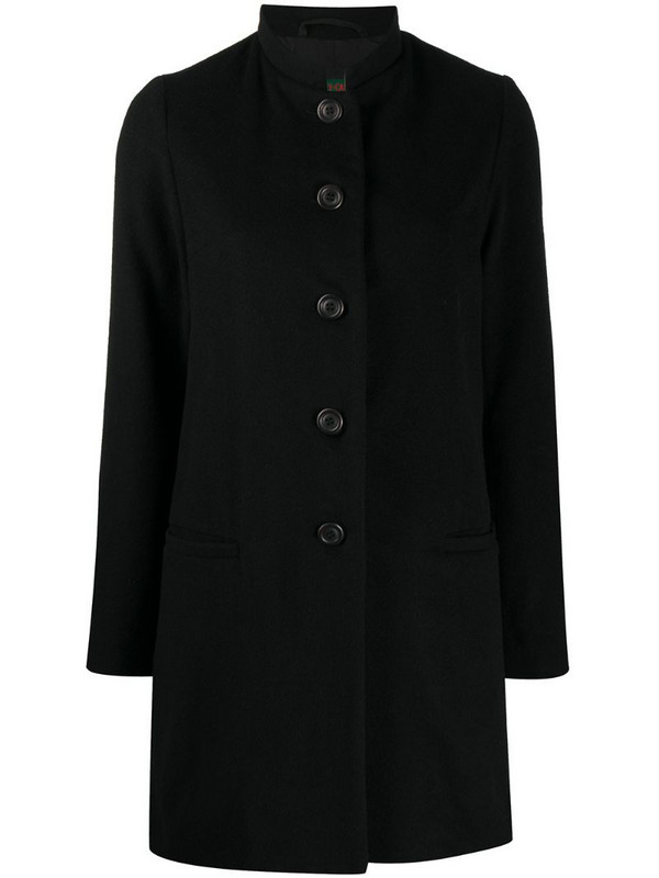 Casey Casey button-up cashmere coat in black