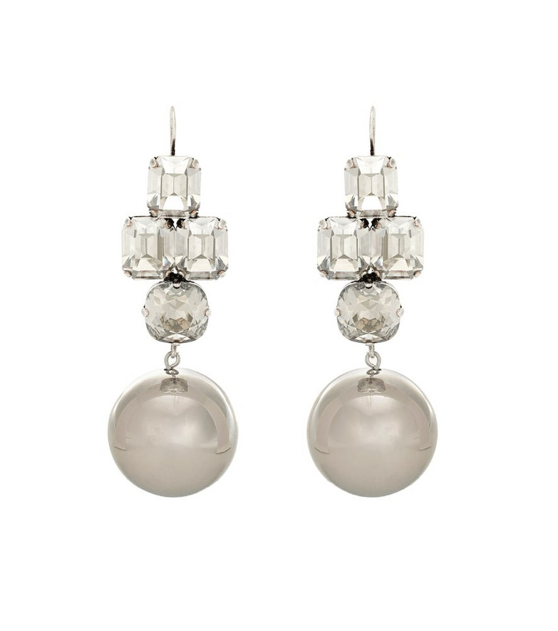 Isabel Marant Exclusive to Mytheresa – Crystal-embellished earrings in silver