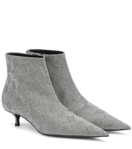 Balenciaga Knife checked ankle boots in grey