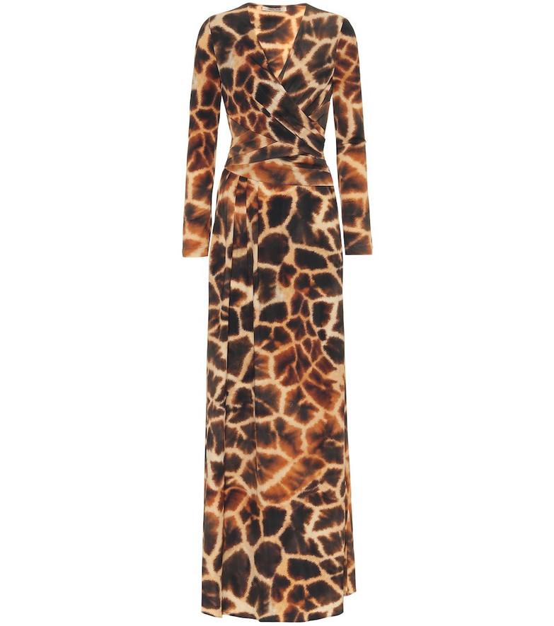 Roberto Cavalli Animal-print stretch-jersey dress in black