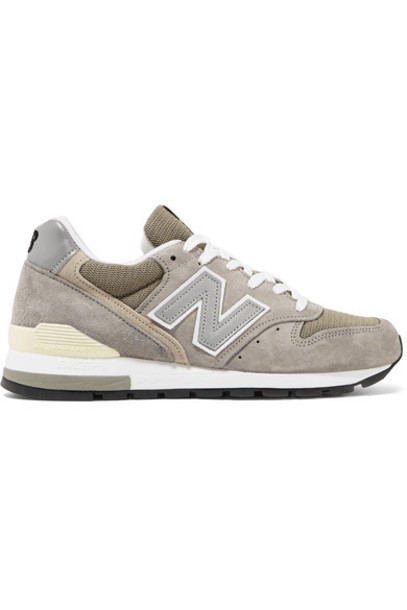 New Balance - 996 Bringback Suede And Mesh Sneakers - Gray