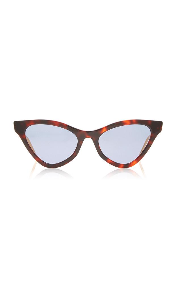 Gucci Cat-Eye Acetate Sunglasses in brown