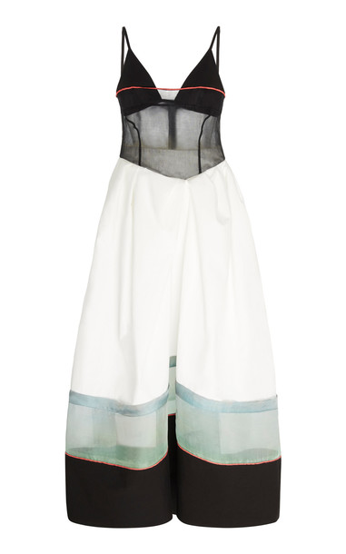 Rosie Assoulin Layered Cotton Cami Dress Size: 2 in white