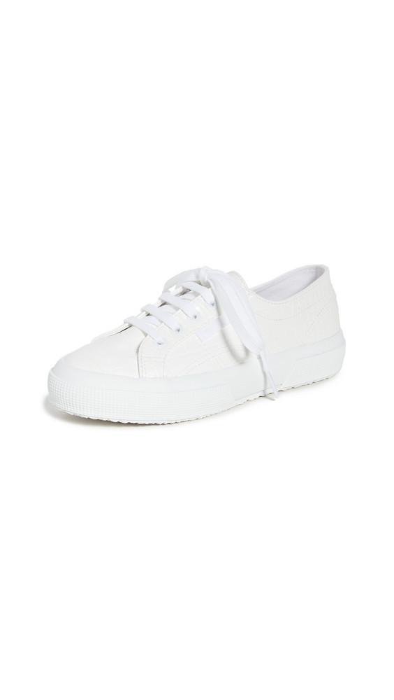 Superga 2750 Syntcrocodilew Sneakers in white