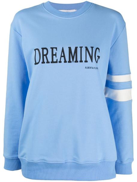 Alberta Ferretti Dreaming slogan sweatshirt in blue