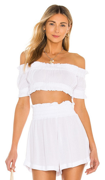 Lovers + Friends Lovers + Friends Innika Top in White
