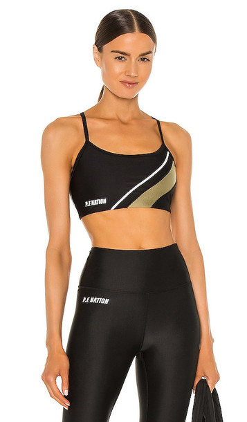 P.E Nation Fortify Sports Bra in Black