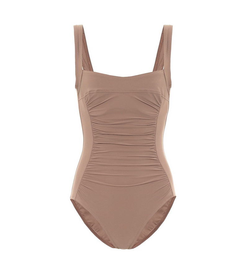 Karla Colletto Basics swimsuit in brown