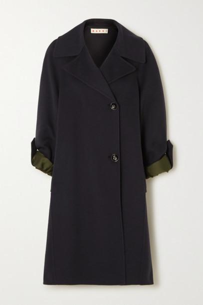 Marni - Wool-blend Coat - Navy