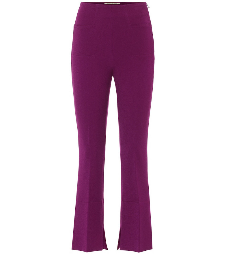 Roland Mouret Exclusive to Mytheresa – Goswell high-rise cropped pants in purple