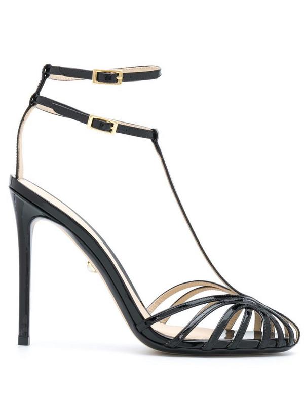 Alevì strappy stiletto sandals in black