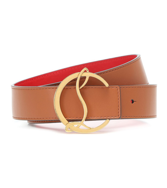 Christian Louboutin Exclusive to Mytheresa – CL Logo reversible leather belt