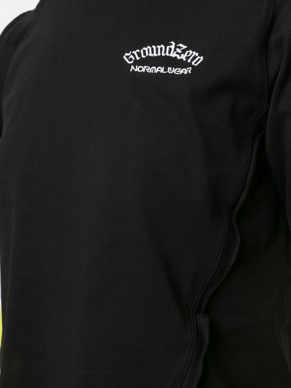 Ground Zero asymmetric hem T-shirt in black