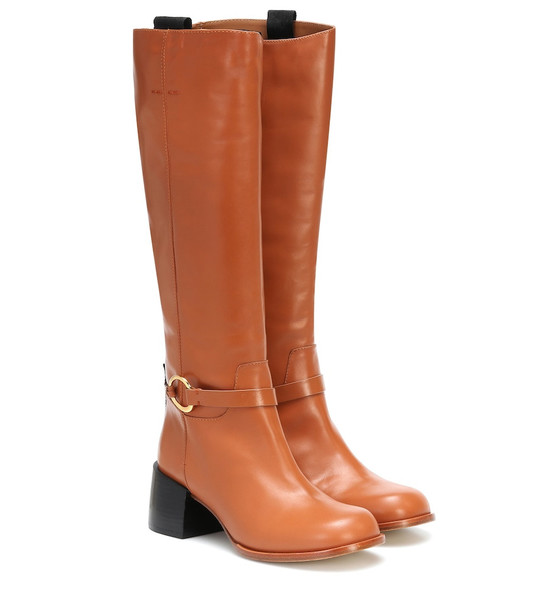 Joseph Leather knee-high boots in brown