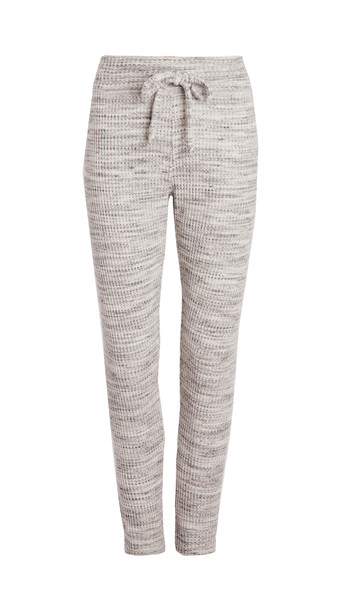 Beyond Yoga Waffle Living Easy Knit Sweatpants in cream