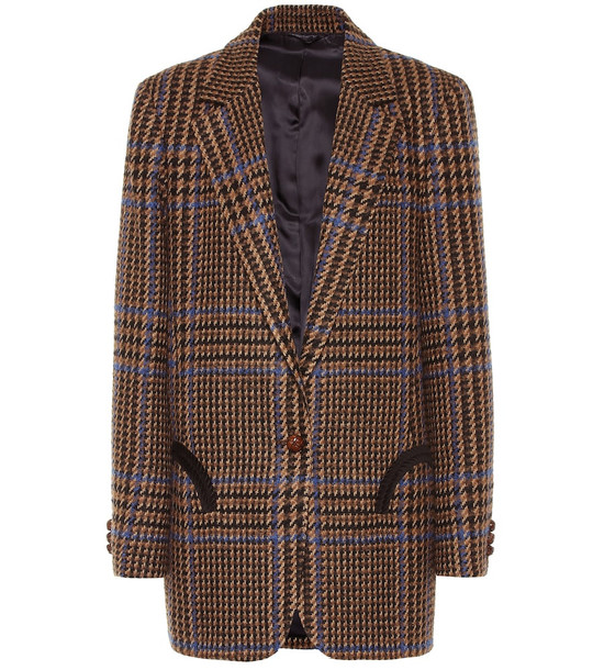 Blazé Milano Weekend wool and alpaca-blend blazer in brown