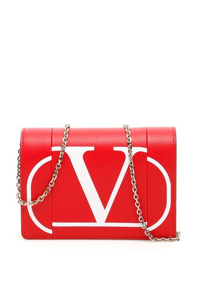 Valentino Go Logo Mini Bag in red / bianco