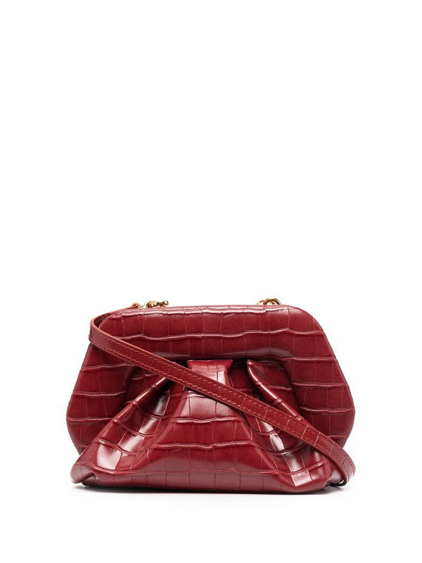 Themoirè Gea clutch in red