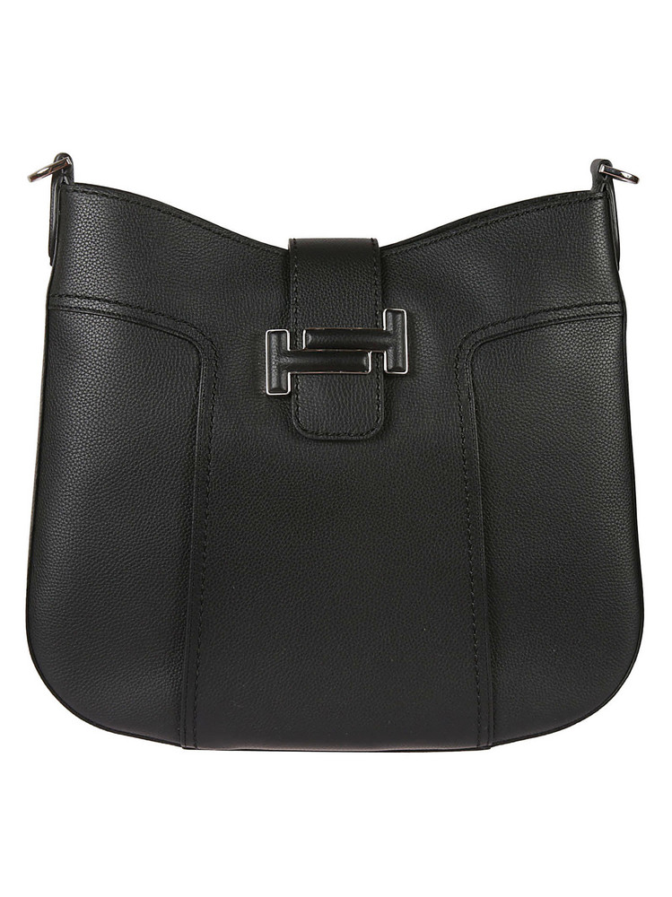 Tods Double T Hobo Bag in black