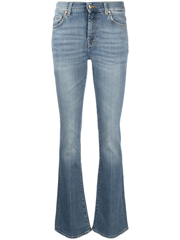 7 For All Mankind faded bootcut jeans in blue