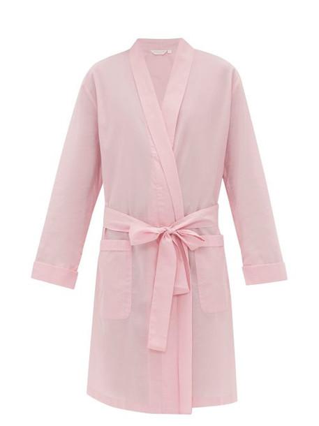 Derek Rose - Amalfi 1 Cotton Kimono - Womens - Pink