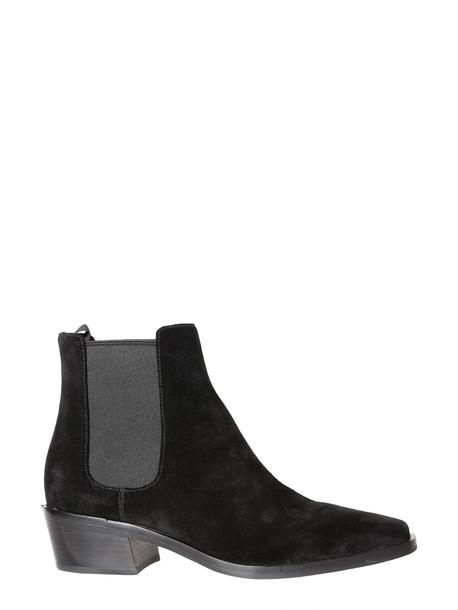 MICHAEL Michael Kors Lottie Flat Boot in nero