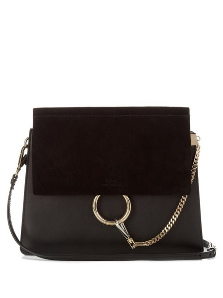 Chloé Chloé - Faye Leather And Suede Shoulder Bag - Womens - Black