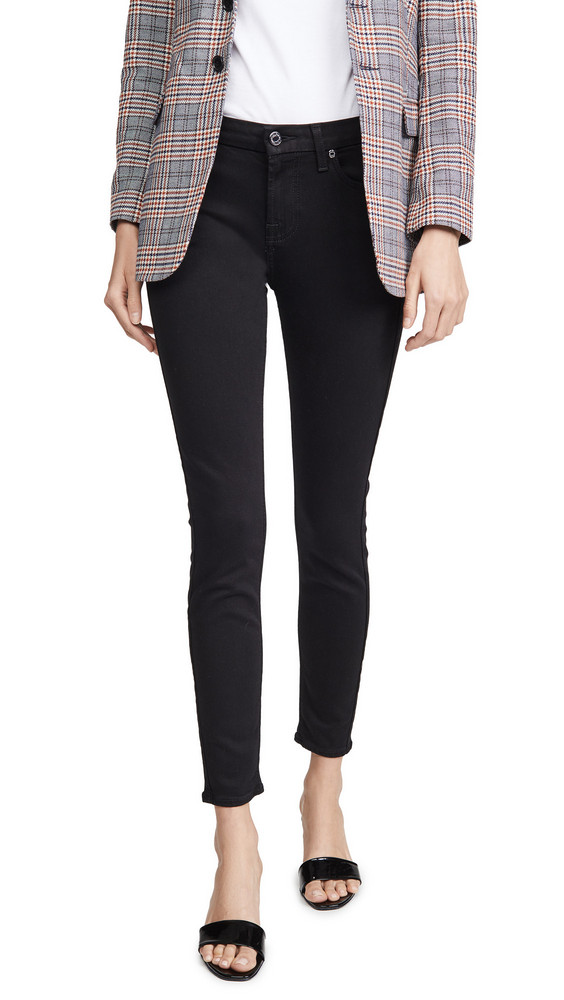 7 For All Mankind Ankle Skinny Jeans in black