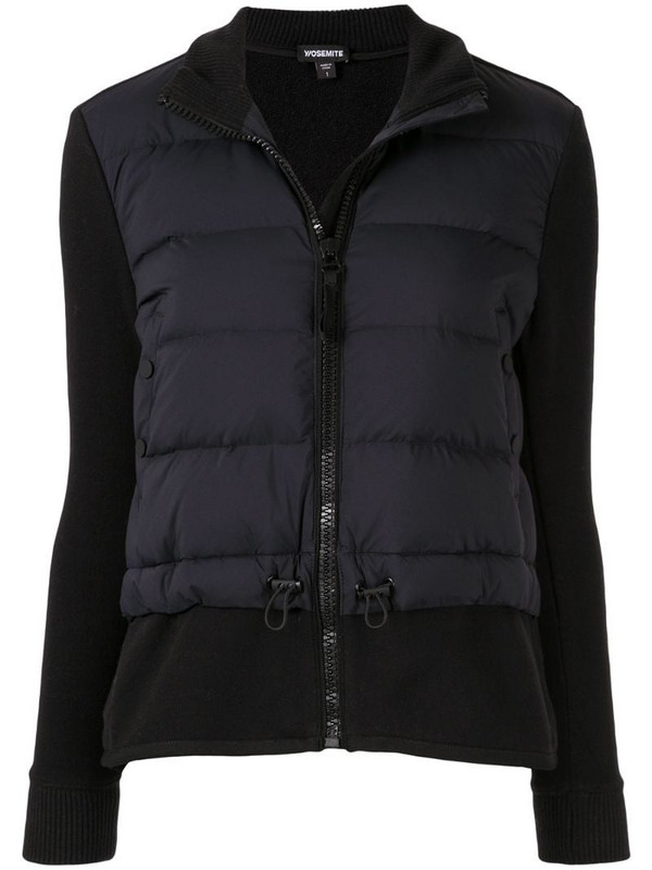 James Perse padded panel jacket in black