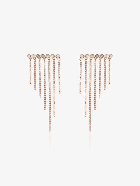 SHAY 18K rose gold fringe diamond earrings
