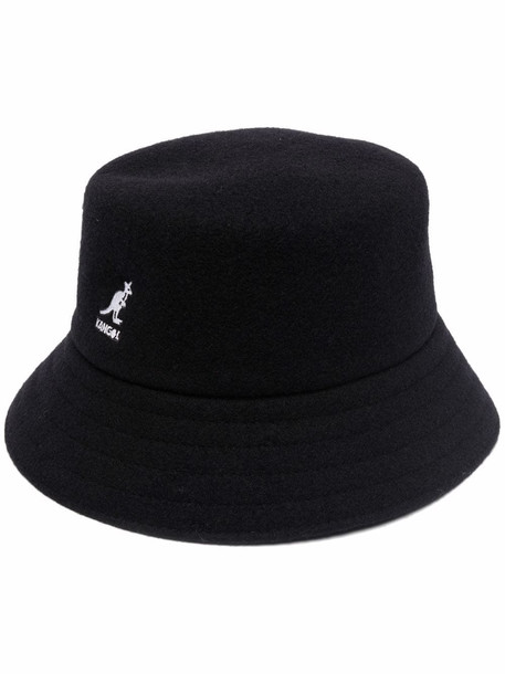 MSGM embroidered wool bucket hat - Black