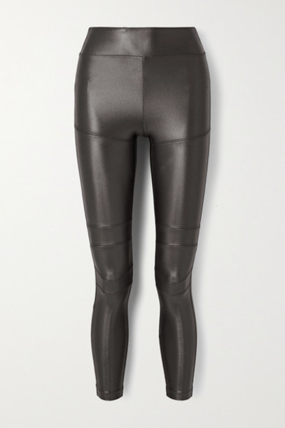 Koral - Moto Infinity Stretch Leggings - Charcoal