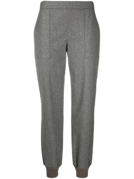 Fabiana Filippi high-waisted straight leg trousers in grey