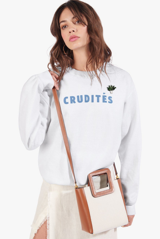 Staud CRUDITÉS SWEATSHIRT | WHITE