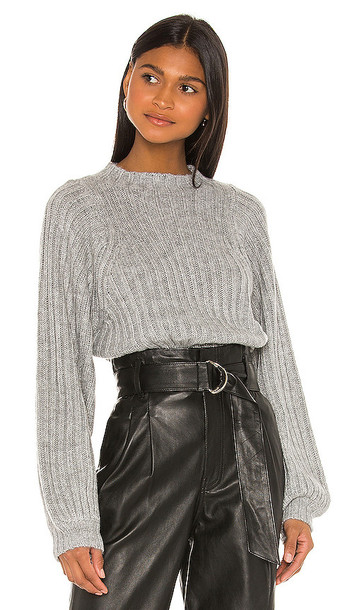 Song of Style Sofie Sweater in Gray