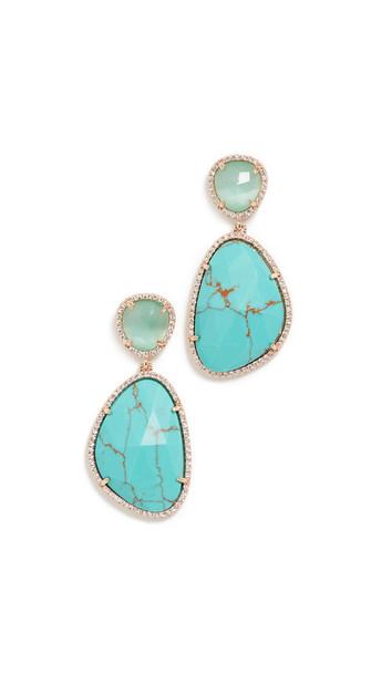 Stella + Ruby Stella + Ruby Natural Stone Drop Earrings