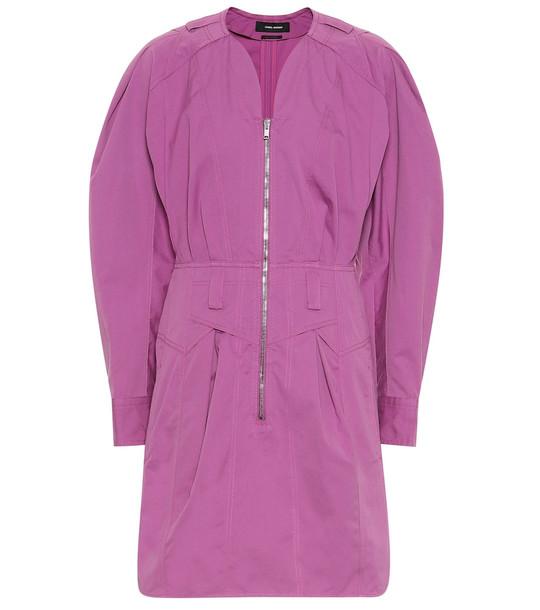 Isabel Marant Honey cotton minidress in pink