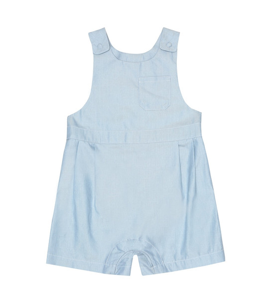Loro Piana Kids Baby cotton playsuit in blue