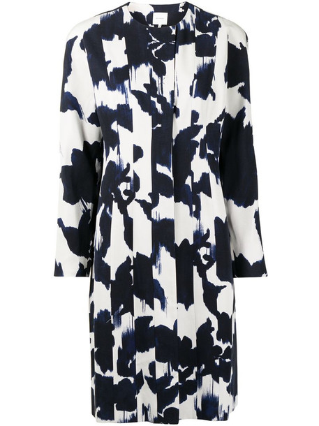 Delpozo abstract floral print coat in blue