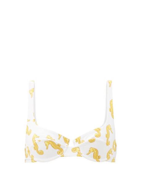 Fisch - Grenadins Underwired Bikini Top - Womens - White Multi