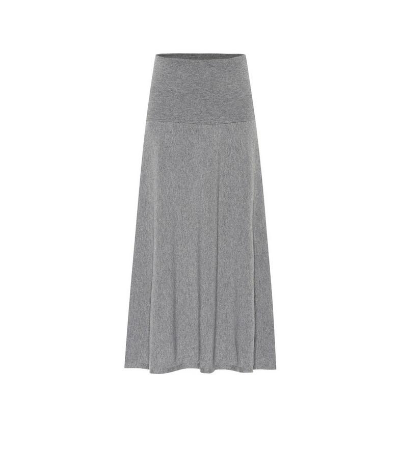 Stella McCartney Wool-blend knit midi skirt in grey