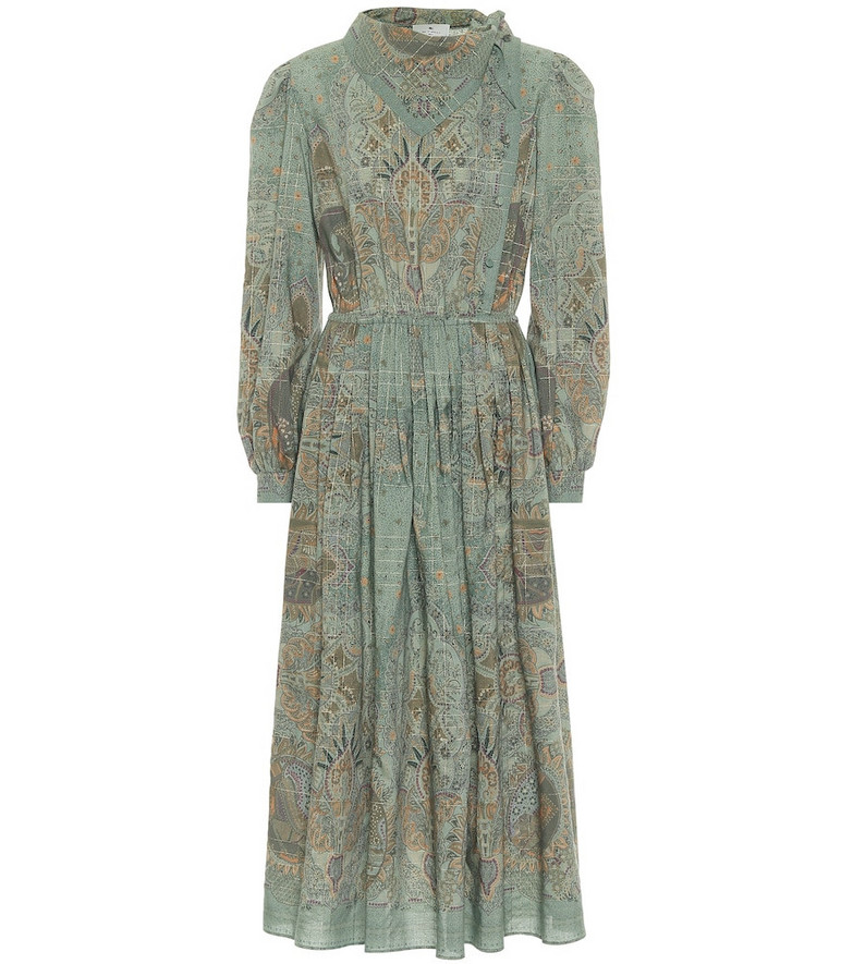 Etro Exclusive to Mytheresa – Printed wool midi dress in blue
