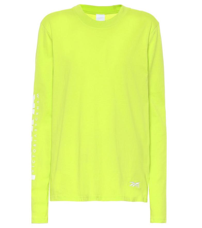 Reebok x Victoria Beckham Logo cotton-jersey T-shirt in yellow