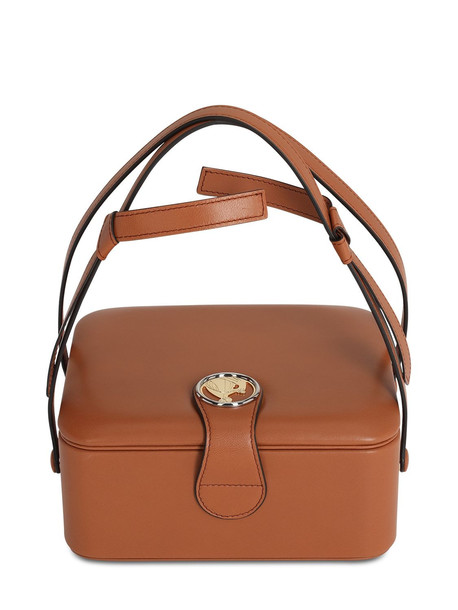 LANVIN Bento Box Leather Top Handle Bag in brown