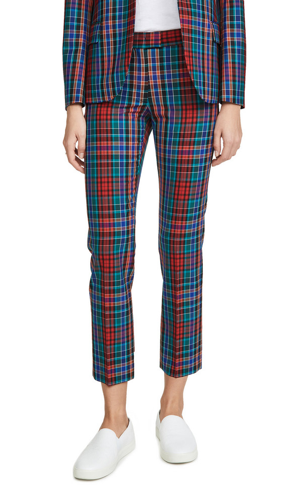 Paul Smith Plaid Trousers in red