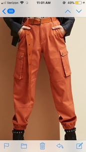 pants,orange,joggers